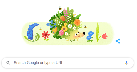 Google Doodle share an Animated Hedgehog to Celebrate Spring Season
